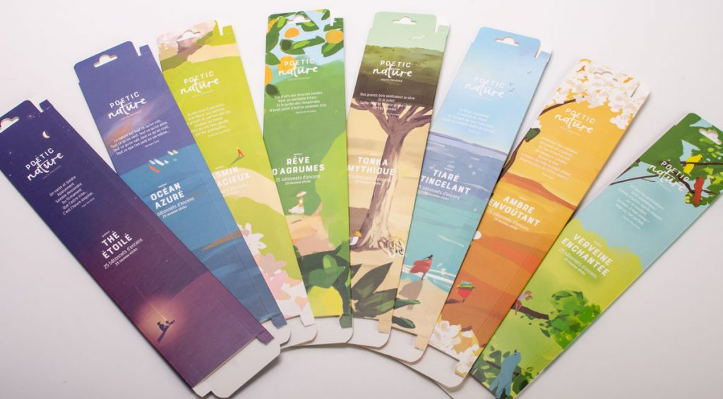 "Packaging d'encens ""Poetic Nature"""