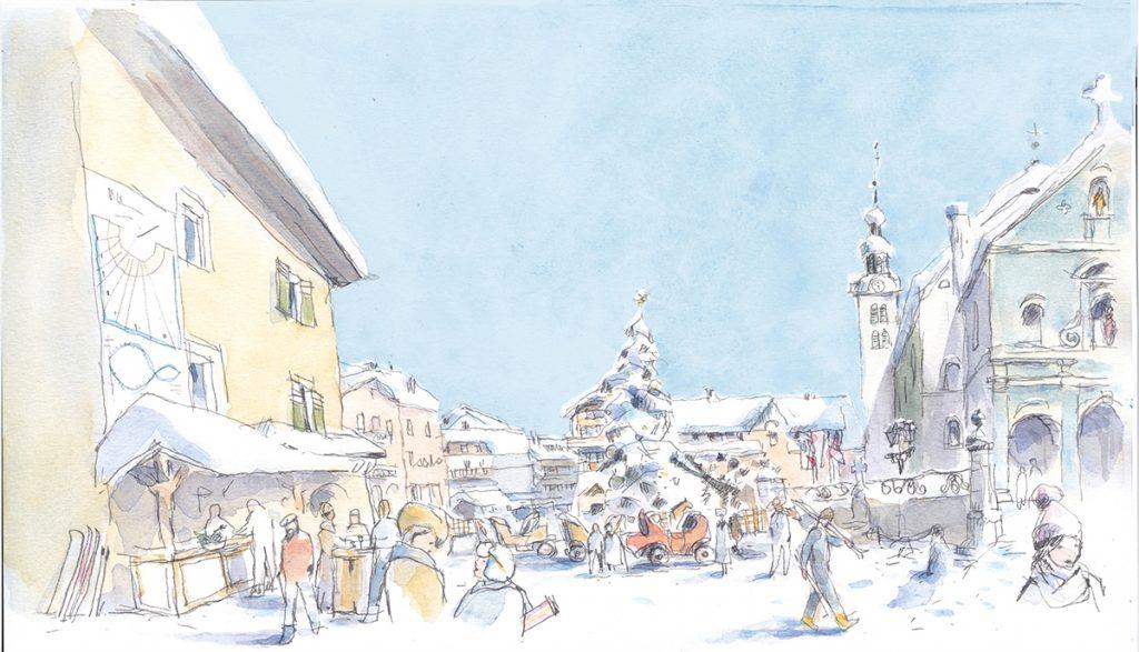 Illustration pour l'Office de tourisme de Megève
